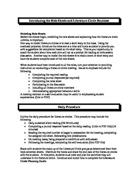 Literature Circles Unit Activities Mystery Stories with Handouts