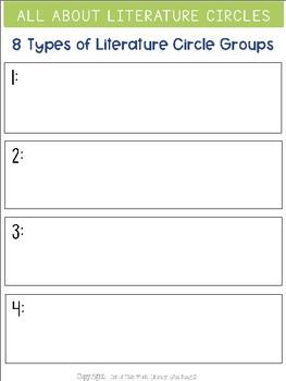 Literature Circles Webinar Workbook