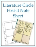 Literature Circles and Reading Response Forms: Sticky Note Format