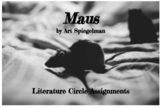 Literature Circles for Maus by Spiegelman (adaptable for other graphic novels)