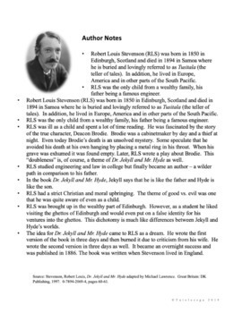 Literature Circles for Middle School - Dr. Jekyll and Mr. Hyde {Digital & PDF}