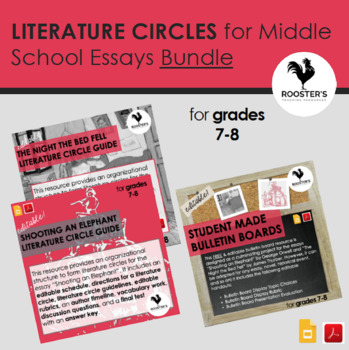 Literature Circles for Middle School Essays Bundle {Digital & PDF}