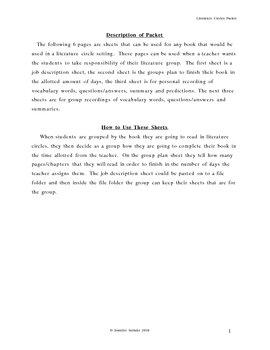 Literature Cirlce Packet