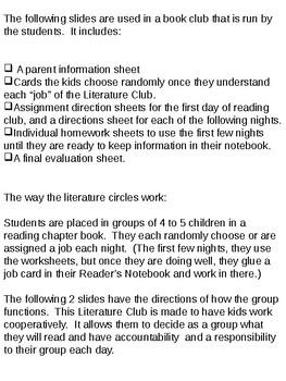 Literature Club/Circle