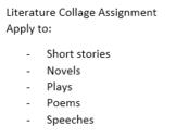 Literature Collage Assignment
