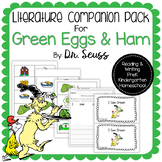 Literature Companion Green Eggs and Ham by Dr. Seuss for PreK and K