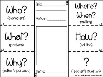Literature Comprehension Sheet/ Reading Interactive Notebook