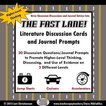 Literature Discussion Cards and Journal Prompts