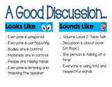Literature Discussion Looks and Sounds Like...
