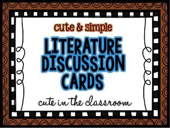 Literature Discussion Prompts
