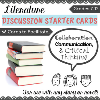 Literature Discussion Starter Cards - for any story or novel