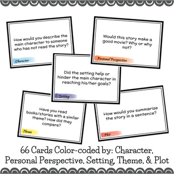Literature Discussion Starter/Task Cards - for any story or novel