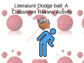 """Review Game (ANY content/subject)- """"Literature Dodgeball""""-"""
