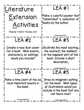 Literature Extension Activites
