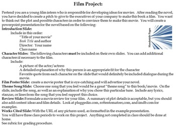 Literature to Film Project