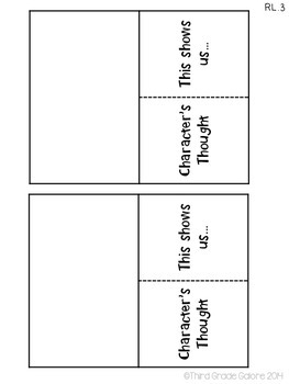 Literature Foldable Reading Responses - Common Core Aligned