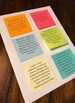 Literature Fourth Grade Reading Goals on Post Its