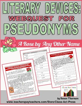 Literature Fun: Literary Pseudonyms: A Rose by Any Other N