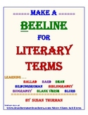 Literature Fun: Literary Terms Starting with B (3 Pages, A
