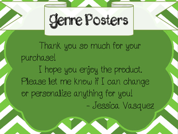 Literature Genre Posters - Green