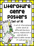 Literature Genre Posters - Set of 16 - Perfect for Interme