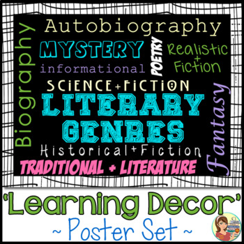 Literature Genre Subway Art Posters