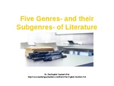 Fiction and NonFiction Genres PowerPoint and Quiz