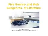Literature Genres PowerPoint with Quiz