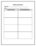 Literature Graphic Organizer: Making a Connection Chart