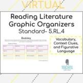 Literature Graphic Organizers- Vocabulary, Context Clues, Figurative Language