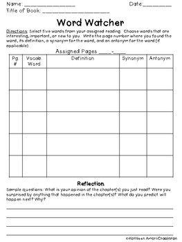 Literature Group Discussion Sheets