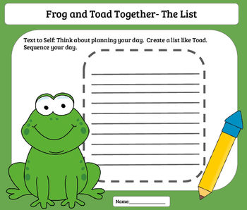Literature Group- Frog and Toad Together
