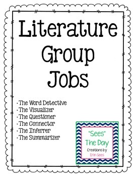 Literature Group Jobs and Worksheets