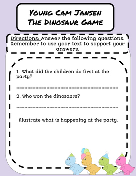 Literature Group- Young Cam Jansen and the Dinosaur Game