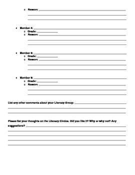Literature Groups Evaluation