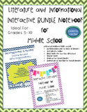 Literature & Informational BUNDLE Differentiated, Interactive, & Guided Notes