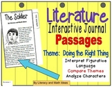 Literature Interactive Journal Passages (Theme: Doing the