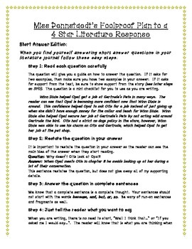 Literature Journal Response