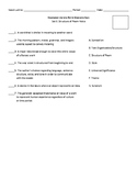 Literature Keystone Glossary Matching Quiz-Set 6