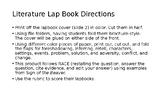 Literature Lapbook