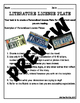 Literature License Plate - Assessment to use with Any Novel!