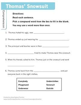 Literature Link: Thomas' Snowsuit by Robert Munsch