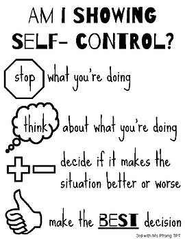 Am I showing self- control? Poster