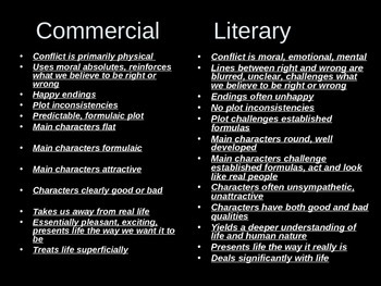 Literature: Literary or Commercial?