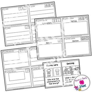 Story Response Worksheets and Prompts Differentiated