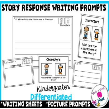 Differentiated Writing Sheets & Prompts for Kindergarten L