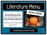 Literature Menu: Grandma and the Great Gourd (Digital Format)
