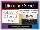 Literature Menus - 3rd Grade Reading Series Complete Colle