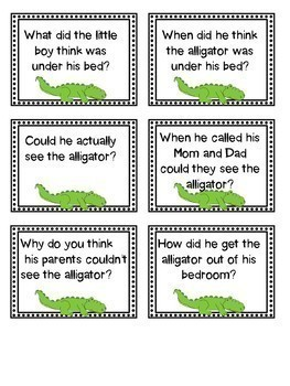 Literature Mini Unit (There's an Alligator Under My Bed)