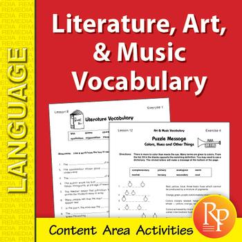 Literature, Music, & Art: Content Area Vocabulary Unit